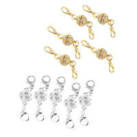 10Pcs 8mm Magnetic Silver Gold Copper Clasps Jewelry Fastener Lobster Claw