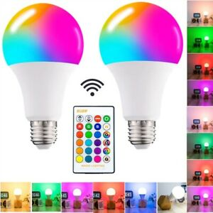 Led RGB Color Changing Bulb AC85-265V 5W Home Decor Lampa With Remote