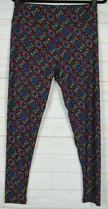 LuLaRoe Women's Leggings Black, Purple, Red, Teal & Yellow Size TC New