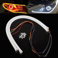 2Pcs 12V 60cm White LED Soft Tube Vehicle Daytime Running Lights DRL Waterproof