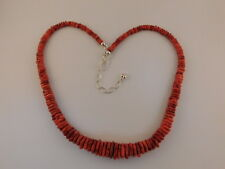 JAY KING RED CORAL NECKLACE STERLING SILVER DTR CHINA 925