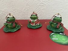 Frog Christmas Holiday Ornaments Santa
