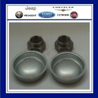 Genuine Peugeot 106 1007 205 206 306 309 Rear Hub Nut & Dust Cap Set X 2