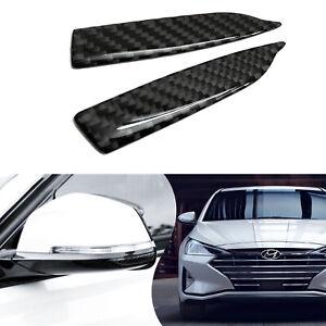 2x Cars SUVs Side Mirror Edge Carbon Fiber Anti Scratch Protector Guard Stickers