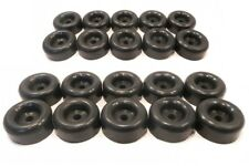 "(20) 2.5"" BLACK RUBBER BUMPERS with 7/16"" Hole for Car Trailer Door Ramp Guard"