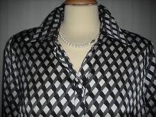 Mona *** edle  Bluse  Tunika ***  offwhite  schwarz Gr. 42 top !!!