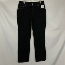 Randolph Duke Spirited NWT Women Size 12 Black Mid-Rise Straight Leg Denim Jeans