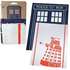 New Doctor Who TARDIS & Dalek Tea Towel 2 Pack Homeware Dishcloth BBC Official
