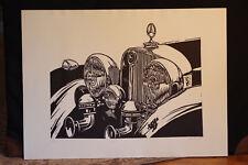 """""""540K"""" Roy E. Dryer III Mercedes Lino Cut Block Print by famed artist"""