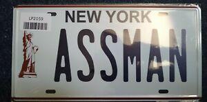 SEINFELD ASSMAN KRAMER: - 1/1 Number License Plate Replica DISPLAY 1990s