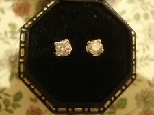 Very Pretty & Finely Crafted: .22 CT Sparkling Diamonds; 9CT Gold Stud Earrings