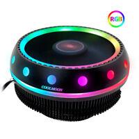 UFO Type RGB LED Desktop CPU Cooler Fan Heatsink for Intel LGA 1155 / 775 Socket