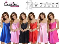 Sexy Lace Ladies Satin Lingerie Sleepwear Night Gown Babydoll Dress Nightie TOP