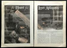 The Hunt for Lost Atlantis Count Byron De Prorok 1930 vintage pictorial