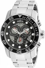 New Mens Invicta 19836 Pro Diver Chronograph Steel Bracelet Watch