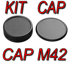 KIT CAP BODY CAMERA REAR LENS M42 42MM 42X1 ADATTO A Chinon Olympus Mamiya Zenit