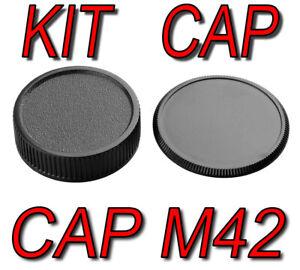 KIT CAP BODY CAMERA REAR LENS M42 42MM 42X1 ADATTO A Pentax Spotmatic Contax S