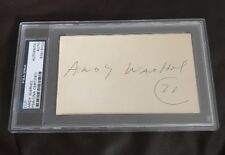 ANDY WARHOL 71 SIGNED INDEX CARD AUTO AUTOGRAPH PSA/DNA CERTIFIED NICE