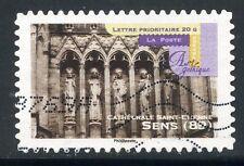 TIMBRE FRANCE AUTOADHESIF OBLITERE N° 552 ART GOTHIQUE / CATHEDRALE DE SENS