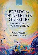NEW Freedom of Religion or Belief: An International Law Commentary