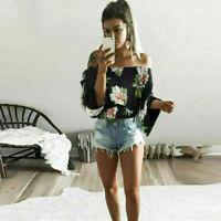 Women Ladies Girl Long Sleeve Off Shoulder T-Shirt Casual Blouse Shirt Tops Hot