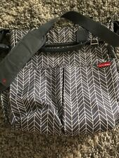 Gently used Skip Hop Messenger Bag Diaper Bag Gray Chevron