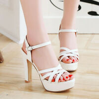Women's Gladiator Platform Open Toe High Heel Party Club Wedding Sandals Shoes