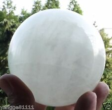 75MM + Stand Natural White fluorite Crystal Sphere Glow In The Dark Stone