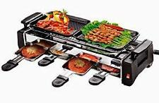 Kitchen Indoor Nonstick Electric Cooker Raclette Grills BBQ Barbecue 4 plates