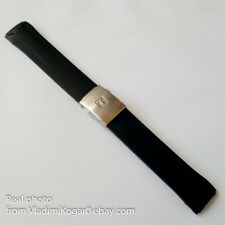 Black Rubber Strap 22-20mm Watch Band for Tissot T024417A T024427A with clasp