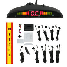 Sistema de Aparcamiento delantero trasero  Alerta de Sonido 8 Sensores en negro