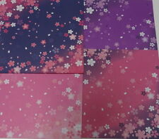 60sheets Double Sided Origami  Paper Sakura C  4 Patterens From Japan