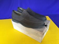 Mens Hush Puppies Shoes Suede Reminisce Loafers Slip-Ons Size 12M Dark Gray