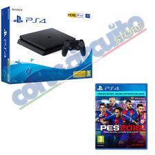 CONSOLE SONY PS4 1TB NERA E CHASSIS + PES 18 PREMIUM EDITION DVD ITALIANO
