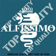 ALFISSIMO ALFA ROMEO DECAL STICKER CAR TRUCK ALFA RALLY MOTORSPORT STICKERS