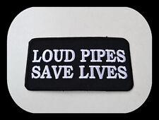 Loud Pipes Save Lives Aufnäher Patch Aufbügler Chopper Biker V2 Harley V8