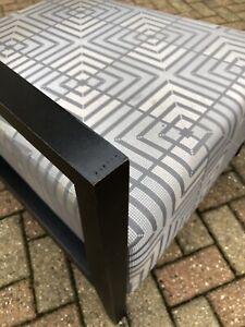 Pair Of Beautiful Morgan Furniture Geometric Grey Designer Chairs