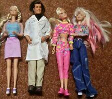 Mixed Lot Of 4 Vintage Barbies 3 Blond Barbies & 1 Dr Ken
