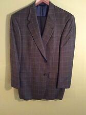 "100% wool men's ""Earth tones"" plaid $375 Hart Schaffner Marx sport jacket 40R"