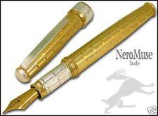 Trend De Vie Pen AZTEC GOLD 925 Silver Waterman Cartridges Truly italian BB Nib