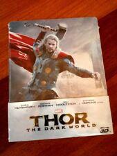 THOR THE DARK WORLD 3D Steelbook Blu-ray Edizione ITALIANA Nuova INCELLOPHANATA