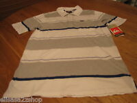 Mens Quiksilver Polo stripe shirt white $45 S surf skate Lairmore 108249 MM022