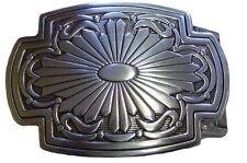 Gürtelschnalle Gürtelschliesse versilbert lackiert Ethno Mexico Sonne Ornament