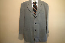 giorgio armani le collezioni  gray ,light SUIT JACKET BLAZER,44 ,wool ,TWEED,*+