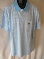 5d60ed850c Foundry BIG TALL 100% Cotton Blue Gingham Check Short Slve Polo SR 30 NEW