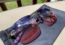 Authentic Cartier Mixed Marble Plank Nebula Buffs Buffalo Sunglasses
