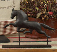 Cast Metal Horse Weathervane Tabletop Decor Black Pedestal Horse Weathervane