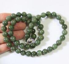 "100% Natural (Grade A) Untreated Oily Green Jadeite JADE Necklace 21"" #N203"