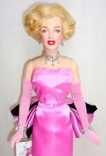 "Franklin Mint Marilyn Monroe 16"" Vinyl Doll Pink Diamonds Gentlemen Pref Blondes"