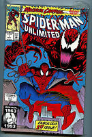 Spider-man Unlimited #1 Signed Ron Lim NM+ 1993 Carnage AH1 Amricons